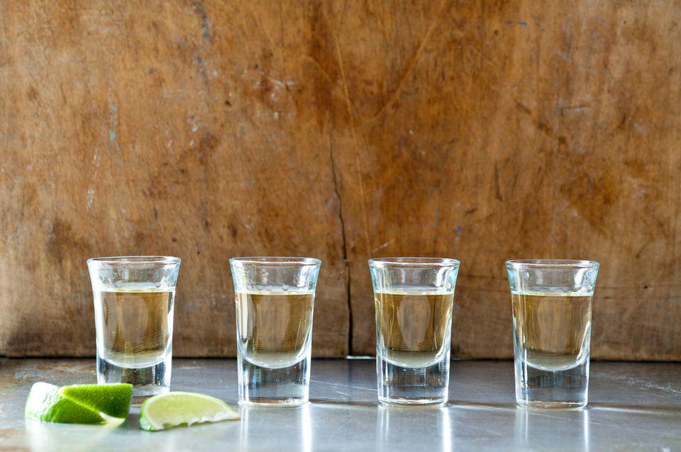 Deretan tembakan tequila